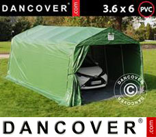 Portable garage PRO 3.6x6x2.68 m PVC, with ground cover, Green/Grey