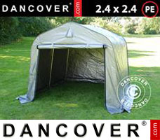 Portable garage PRO 2.4x2.4x2 m PE, Grey