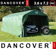 Portable garage PRO 3.6x7.2x2.7 mPVC, Green