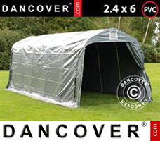 Portable garage PRO 2.4x6x2.34 m PVC, Grey