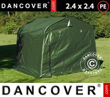 Portable garage PRO 2.4x2.4x2 m PE, Green