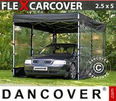 Portable garage Folding garage FleX Carcover, 2,5x5m, Black