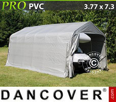 Portable garage PRO 3.77x7.3x3.24 m PVC, Grey