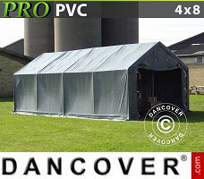 Portable garage PRO 4x8x2x3.1 m, PVC, Grey