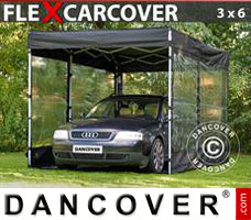 Portable garage Folding garage FleX Carcover, 3x6 m, Black
