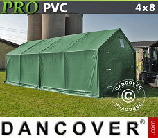 Portable garage PRO 4x8x2x3.1 m, PVC, Green