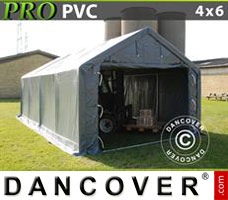 Portable garage PRO 4x6x2x3.1 m, PVC, Grey