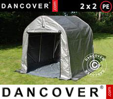 Portable garage PRO 2x2x2 m PE, with ground cover, Grey