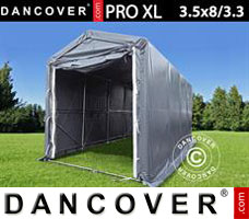 Portable garage PRO XL 3.5x8x3.3x3.94 m, PVC, Grey