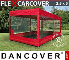 Portable garage Folding garage FleX Carcover, 2,5x5 m, Red