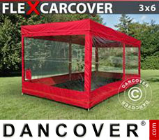 Portable garage Folding garage FleX Carcover, 3x6 m, Red
