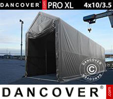 Portable garage PRO XL 4x10x3.5x4.59 m, PVC, Grey
