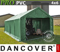 Portable garage PRO 4x6x2x3.1 m, PVC, Green
