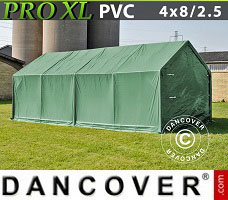 Portable garage PRO 4x8x2.5x3.6 m, PVC, Green