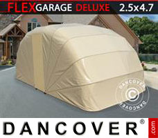 Portable garage Folding garage (Car), 2.5x4.7x2 m, Beige
