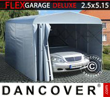 Portable garage Folding tunnel garage (Car), ECO, 2.5x5.15x2.15 m, Grey