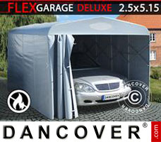 Portable garage Folding tunnel garage (Car), 2.5x5.15x2.15 m, Grey