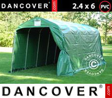 Portable garage PRO 2.4x6x2.34 m PVC, Green